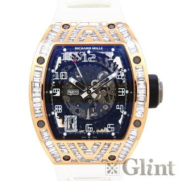 リシャールミル【RICHARD MILLE】RM010 オートマティック 18Kローズゴールド バゲットダイヤモンド〔腕時計〕〔メンズ〕【中古】