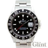中古ロレックス(ROLEX)GMTマスターII16710ペプシベゼル〔メンズ〕〔腕時計〕〔P番〕〔赤青ベゼル〕【中古】