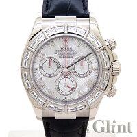 ROLEX(ロレックス)DAYTONAデイトナブラック文字盤Ref.116519G/116589GBR〔ホワイトゴールド〕〔バゲットダイヤモンド〕〔自動巻き〕〔腕時計〕〔メンズ〕