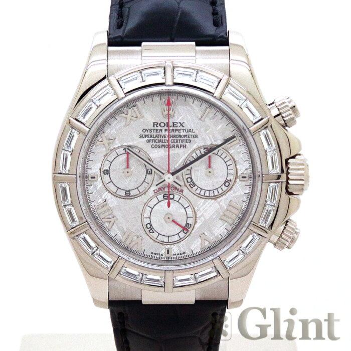 ロレックス(ROLEX)デイトナ メテオライト文字盤 116589BR〔18Kホワイトゴールド〕〔バゲットダイヤモンド〕〔自動巻き〕〔腕時計〕〔メンズ〕【中古】
