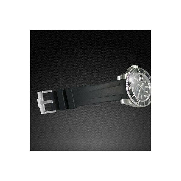 ラバーB【RUBBERB】ROLEXエクスプローラーI専用ラバーベルト 色:オレンジ【尾錠付き】(2010年以降モデル対応)※時計は付属しません