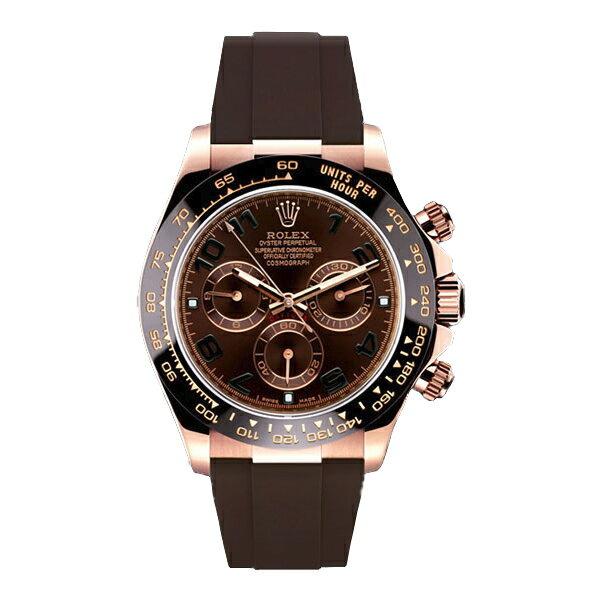 ラバーB【RUBBERB】ロレックス(ROLEX)デイトナ(DAYTONA)116515LN(革ストラップ)専用ラバーベルト【ブラウン】※時計、バックルは付属しません