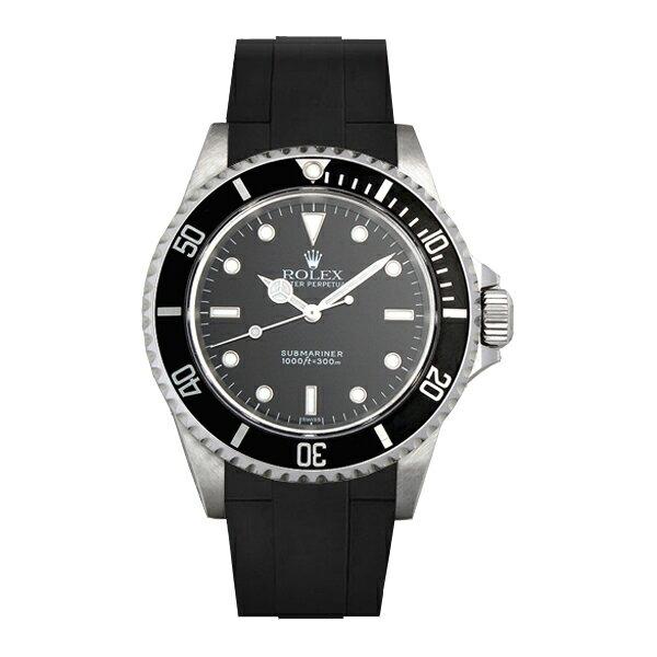 ラバーB【RUBBERB】ロレックス【ROLEX】サブマリーナー(Ref.14060)専用ラバーベルト VELCRO(マジックテープ)【ブラック】※時計は付属しません