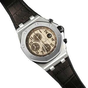 橡胶B [RUBBERB]爱彼Royal Oak Offshore 42mm型号独家橡胶皮带鳄鱼皮[棕色] *不包括手表和皮带扣。