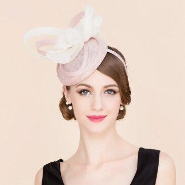 【ヘッドドレス】ビッグフラワーくるくるリボン付きカチューシャヘッドドレス♪ピンク ホワイト 白 ヘッドドレス ヘアアクセ ヘッドアクセ 髪飾り 結婚式【GLITTER DRESS】【グリッタードレス】