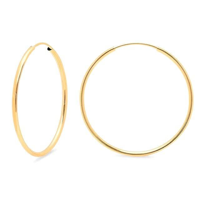 レディースジュエリー・アクセサリー, ピアス 14KGF14K1.2mm45mmGold Filled Endless Hoop Earrings