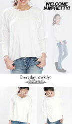 【+498円対象】バットスリーブTシャツポケット付き長袖ゆるロングTシャツチュニック長袖カットソートップスワンピース/5色/オーバーサイズ/