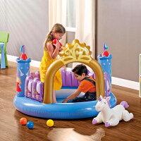 ボールプールお城の形intexボールハウスエア遊具子供用キッズ女の子お姫様秘密基地10P11Apr15