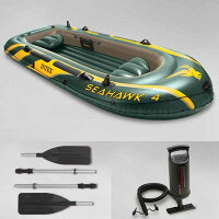ゴムボートシーホークボート大型4人乗り空気式ゴムボートセットintex釣りレジャー海池川10P11Apr15