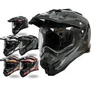 ポイント インナーサンバイザー オフロード ヘルメット グラフィック モトクロス