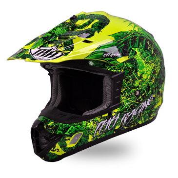 【THH】 オフロードヘルメット TX-12 ディアボロ グリーンホワイト モトクロス 全排気量対応 【thh-tx12-dgw】