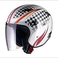 LEAD(リード工業)X-AIRRAZZOIIIG1ジェットヘルメットW(ホワイト/スポーティ)(S/M/Lサイズ)0SS-GCRAZ3G-W