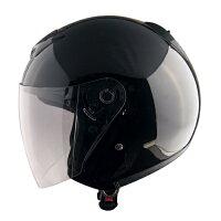 【TNK工業】XX-505XXLサイズシールド付ジェット型ヘルメット【0SS-GPXX606-K】ブラック【頭が大きい】【62〜64センチ】【ジェットタイプ】
