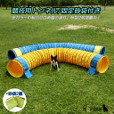 犬用 ドッグアジリティー 競技用ハード・トンネル 全長5m 厚手生地 固定用砂袋付き【犬用品 運動器具 競技 訓練 トレーニング しつけ ドッグラン】 その1