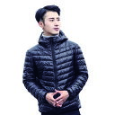 【送料無料】ダウンジャケット フード付き メンズ 男性 ダウンコート アウター 防寒 防風 軽量ダウ