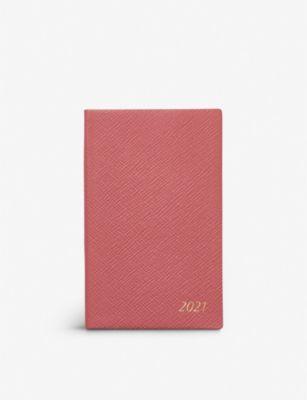 手帳・ノート, システム手帳 SMYTHSON 2021 9cm x 14cm Panama 2021 cross-grain leather pocket diary 9cm x 14cm CORAL