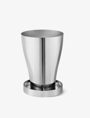 GEORG JENSEN テラ ミラーポリッシュ ステンレススチール プランター 15.3cm Terra mirror-polished stainless steel planter 15.3cm