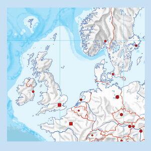 世界白地図拡大図