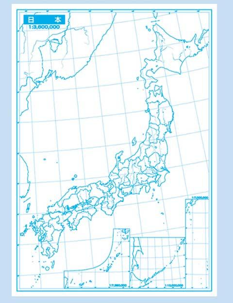 日本 日本地図 覚える : 楽天市場】白地図 日本地図5 ...
