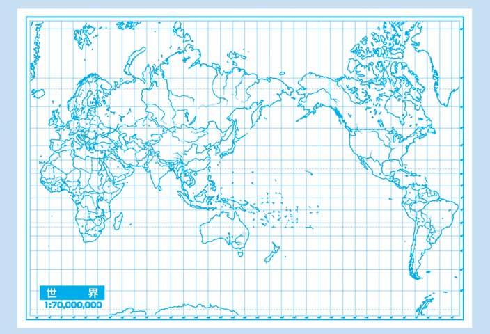 世界地図 世界地図 素材 無料 : 白地図セット(A2)(世界地図 ...