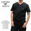 EMPORIO ARMANI エンポリオアルマーニ 110856 Vネック Tシャツ 半袖 メンズ 【メール便対応】