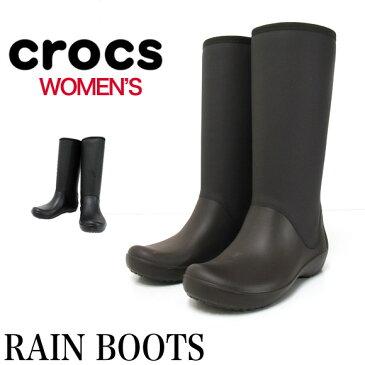 crocs クロックス ウィメンズ レインブーツ レインフロートールブーツ RAINFLOE TALL BOOTレディース 女性用 ウィメンズ 長靴【返品交換不可】