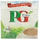 PG Tips Black Tea、ピラミッドティーバッグ、80Count Boxes(P