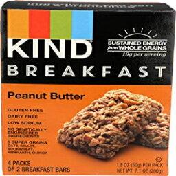 KIND朝食バーピーナッツバター-4CT KIND Breakfast Bar Peanut Butter - 4 CT