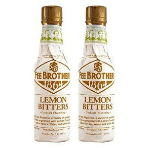 水・ソフトドリンク, その他 Fee Brothers Lemon Cocktail Bitters - 5 oz - 2 Pack