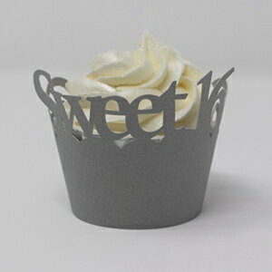 All About Details Sweet 16 Cupcake Wrappers, Set of 12 (Gr画像