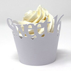 All About Details Sweet 16 Cupcake Wrappers, Set of 12 (Wh画像