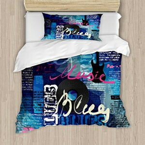 Ambesonne Old Newspaper Duvet Cover Set Twin Size