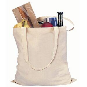 Natural Color Reusable Cotton Shopping Tote Bag (