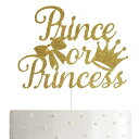 ALPHA K Prince or Princess Cake Topper, Gender Reveal Cake