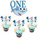 ONE Birthday Cake Topper with1st Cupcake Toppers S