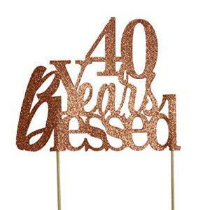 All About Details Copper 40-Years-Blessed Cake Topper画像