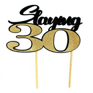 All About Details Slaying 30 Cake Topper, 1pc,画像