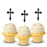 Cross Halloween Cupcake Topper 12 pieces per Pack