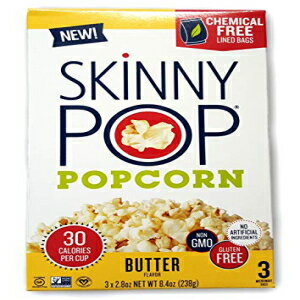Skinny Pop, Microwave Popcorn Butter 3 Count, 8.