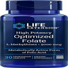 サプリメント, その他 Life Extension High Potency Optimized Folate 30 Ve