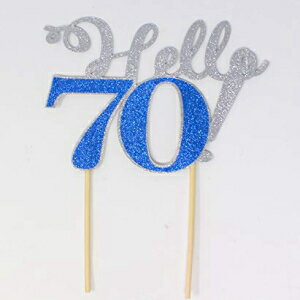 All About Details Hello 70! Cake Topper,1pc, 70th Birthday画像