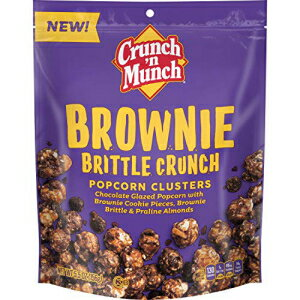 スナック菓子, その他 Crunch n Munch Sweet Creations Brownie Brittle Crunch, 5oz