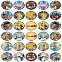 Happy Choices 30 x Edible Cupcake Toppers Themed of Dragon Ball Z Collection of Edible Cake Decorations | Uncut Edible on Wafer Sheet