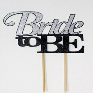 All About Details Bride To Be Cake Topper,1PC, Wedding, Engagement, Bachelorette Party Decor, Glitter Topper (Black & Silver)画像