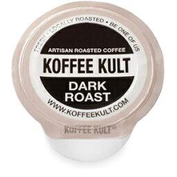 Koffee Kult Premium Dark Roast Coffee Single Serve coffee cups in pods for Keurig 2.0 coffee brewers- 64 count