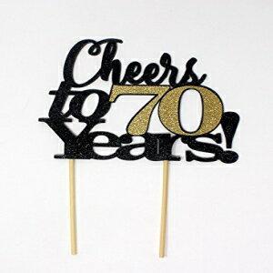 食品, その他 All About Details Cheers to 70 Years! Cake Toppe