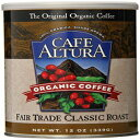 Cafe Altura Ground Organic Coffee、フェアトレードクラシックロースト、12オンス(3パック) Cafe Altura Ground Organic Coffee, Fair Trade Classic Roast, 12 Ounce (Pack of 3)