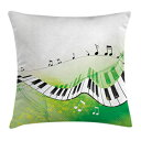 Ambesonne Music Throw Pillow Cushion Cover, Music
