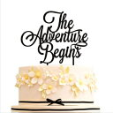 HappyPlywood The adventure begins Cake Topper Weddi