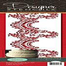 Designer Stencils C373 Alencon Lace Bottom Tier Ca